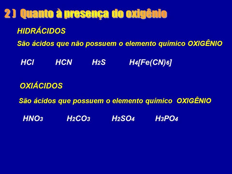 2 ) Quanto à presença do oxigênio