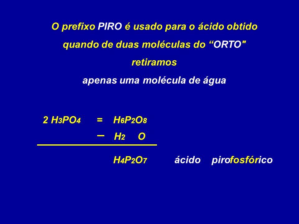 apenas uma molécula de água