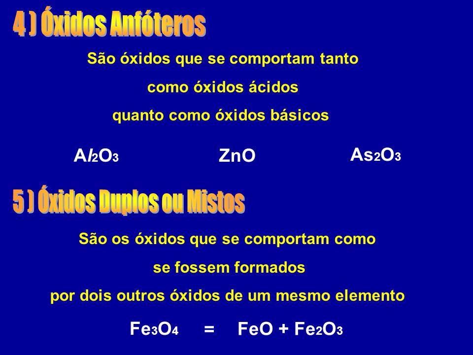 5 ) Óxidos Duplos ou Mistos