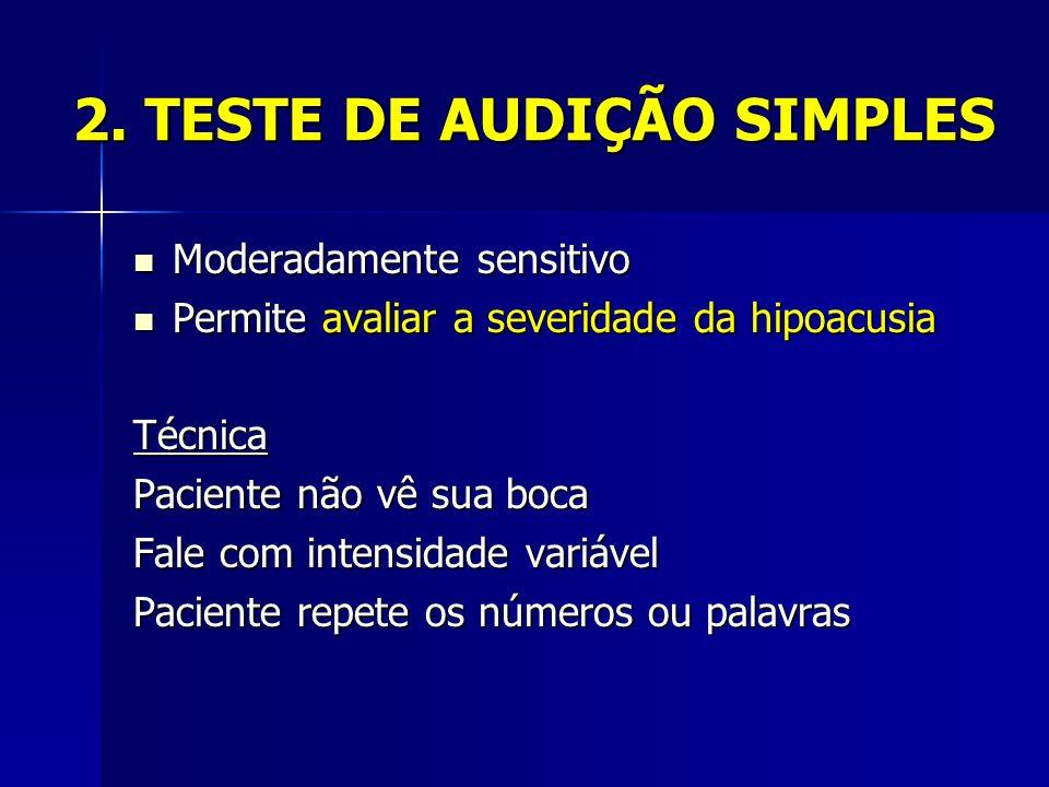 2. TESTE DE AUDIÇÃO SIMPLES