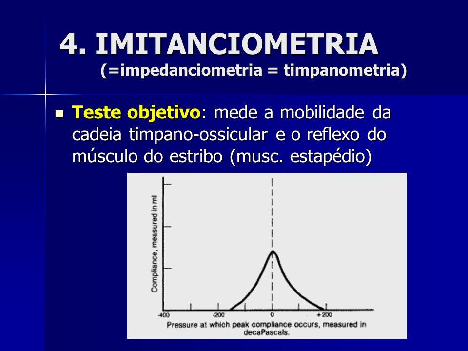 4. IMITANCIOMETRIA (=impedanciometria = timpanometria)