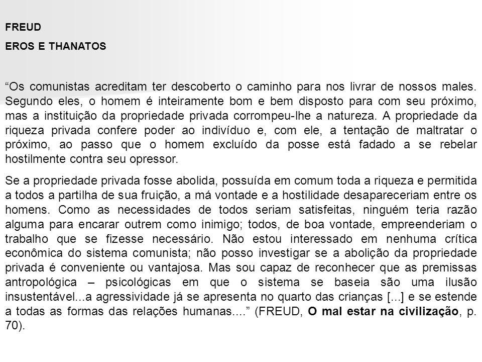 FREUDEROS E THANATOS.