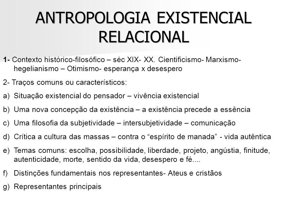 ANTROPOLOGIA EXISTENCIAL RELACIONAL