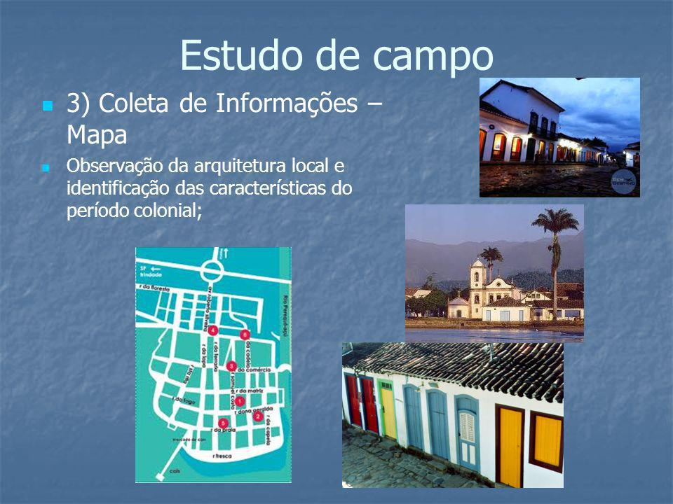 Estudo de campo 3) Coleta de Informações – Mapa