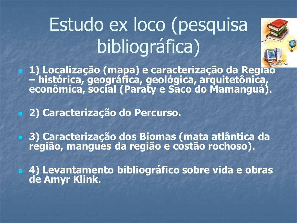 Estudo ex loco (pesquisa bibliográfica)