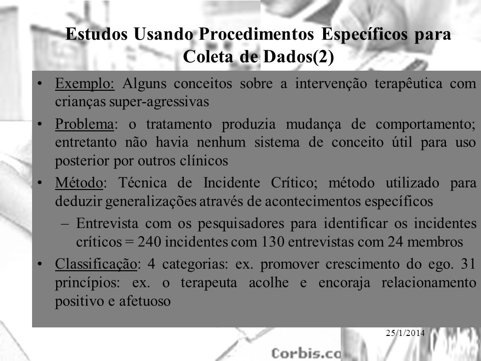 Estudos Usando Procedimentos Específicos para Coleta de Dados(2)