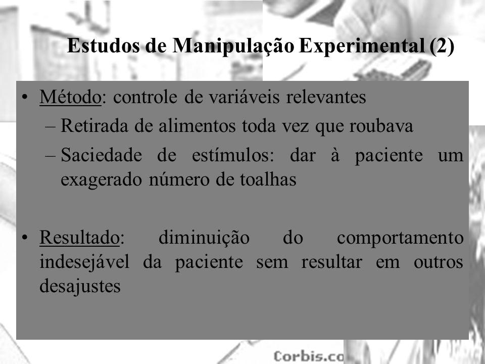 Estudos de Manipulação Experimental (2)