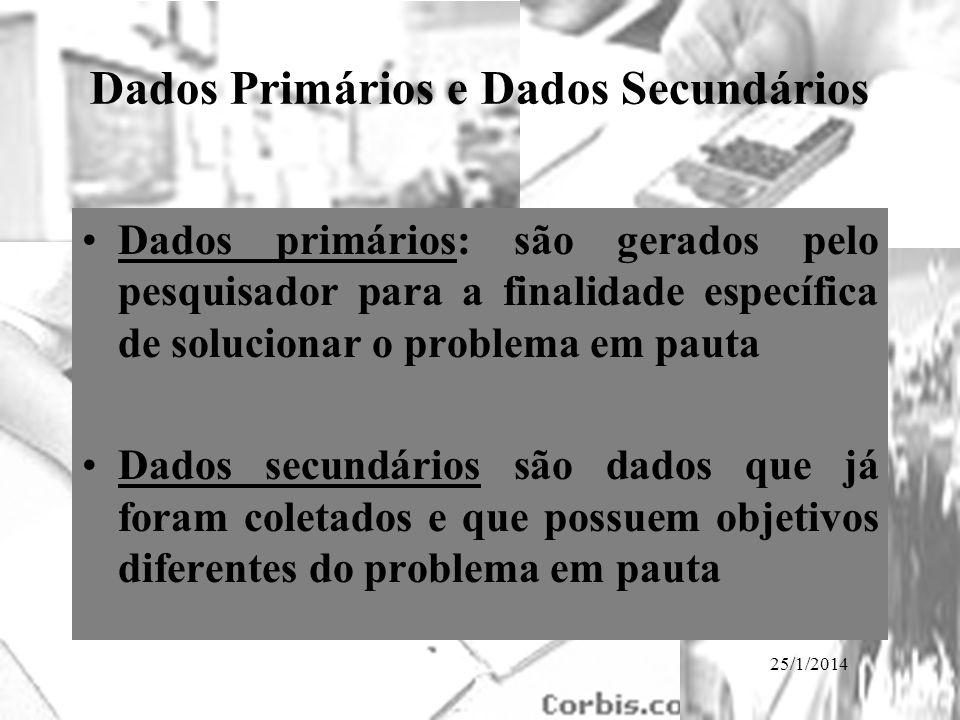 Dados Primários e Dados Secundários