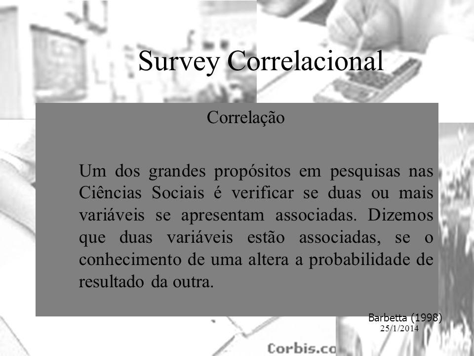 Survey Correlacional Correlação