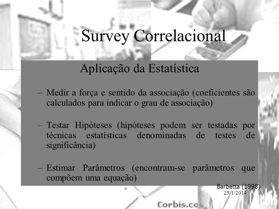 Aplicação da Estatística