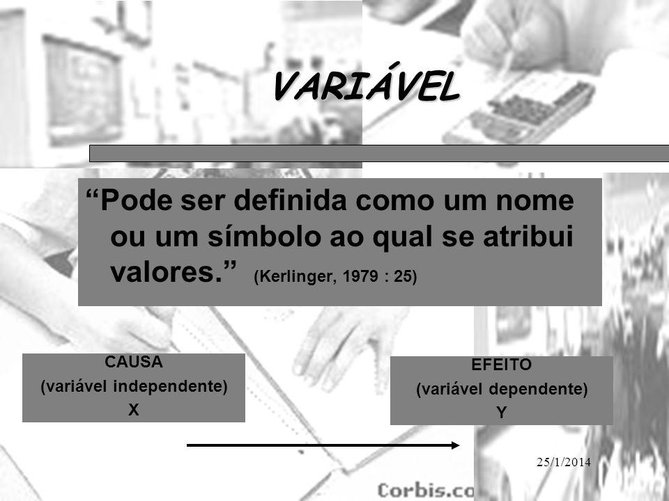 (variável independente) (variável dependente)