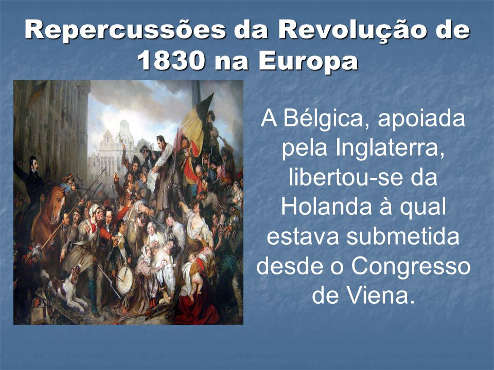 Repercussões da Revolução de 1830 na Europa