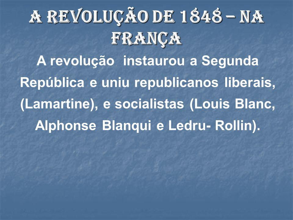 A Revolução de 1848 – Na França