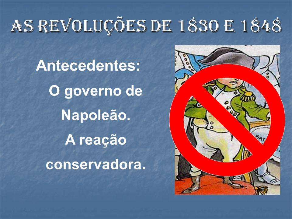 As revoluções de 1830 e 1848 Antecedentes: O governo de Napoleão.