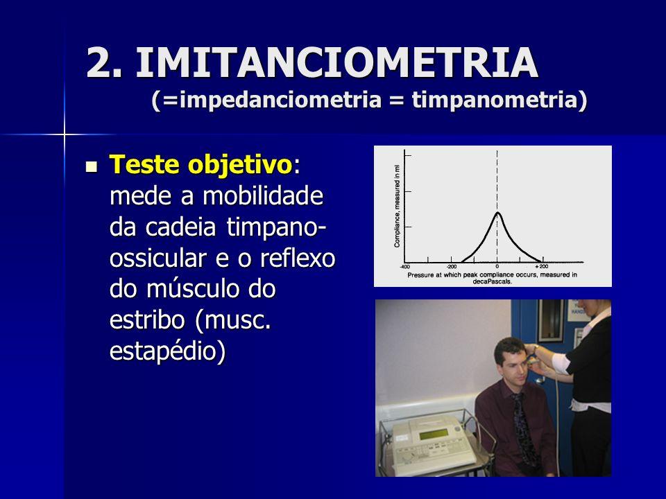 2. IMITANCIOMETRIA (=impedanciometria = timpanometria)