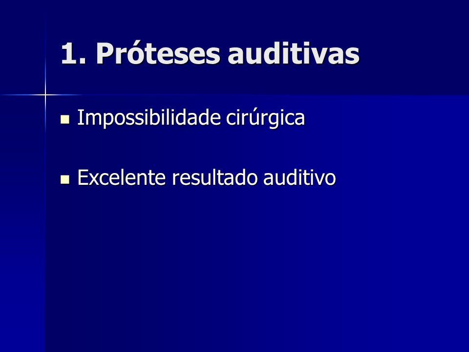 1. Próteses auditivas Impossibilidade cirúrgica