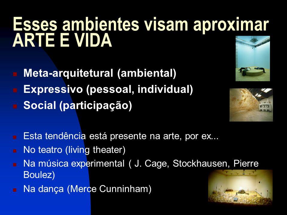 Esses ambientes visam aproximar ARTE E VIDA