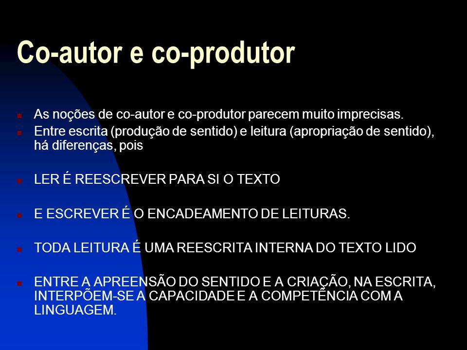 Co-autor e co-produtor