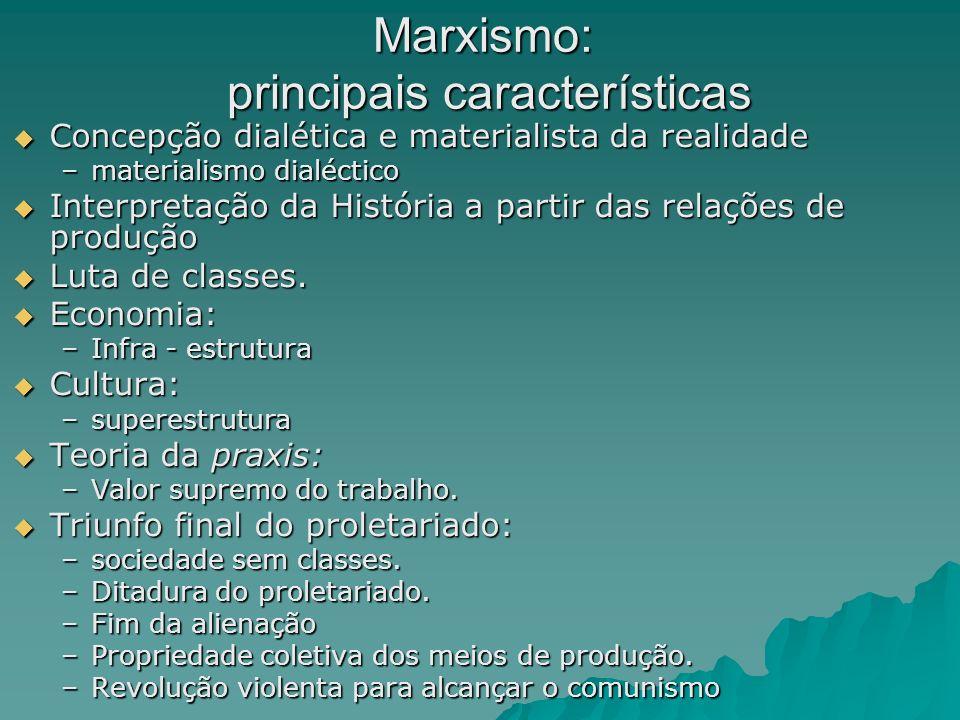 Marxismo: principais características