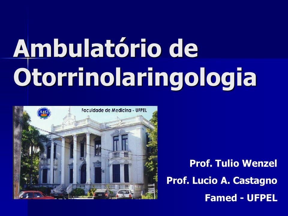 Ambulatório de Otorrinolaringologia