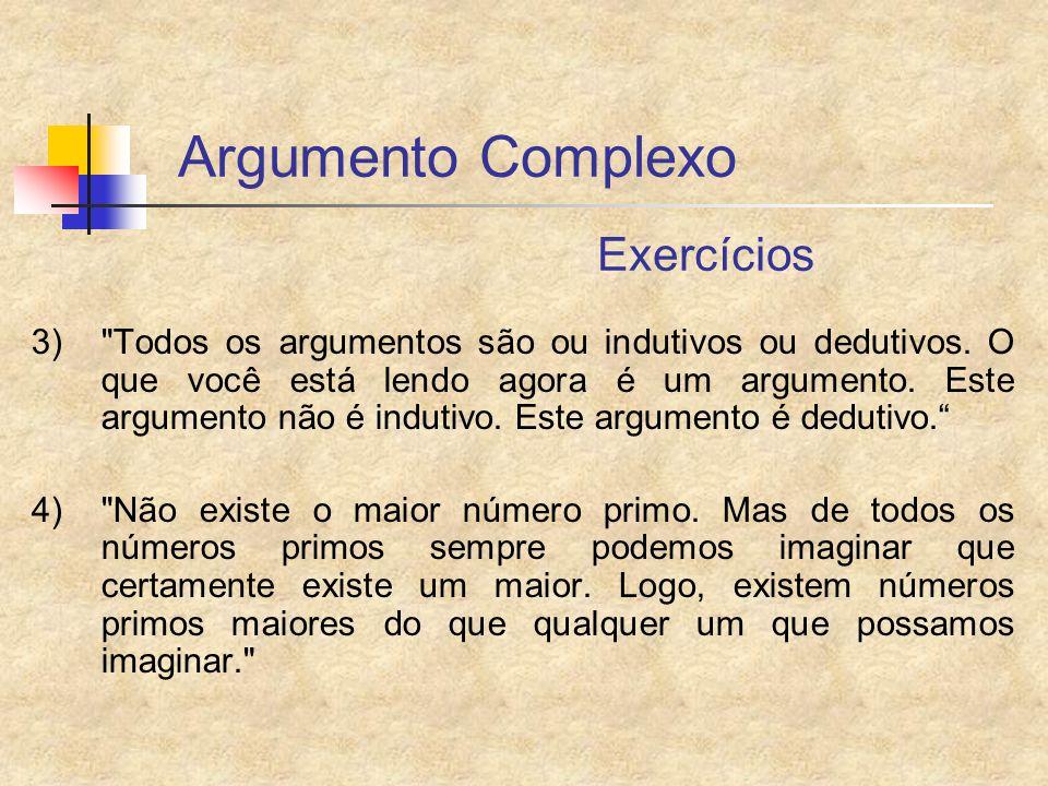 Argumento Complexo Exercícios