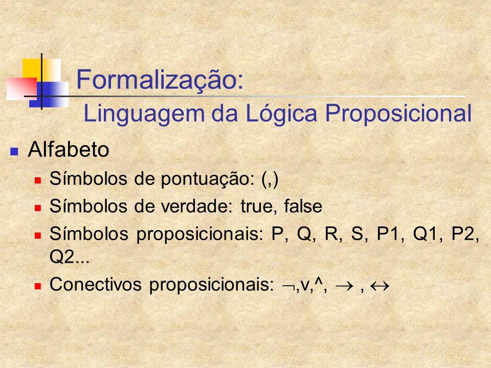 Formalização: Linguagem da Lógica Proposicional