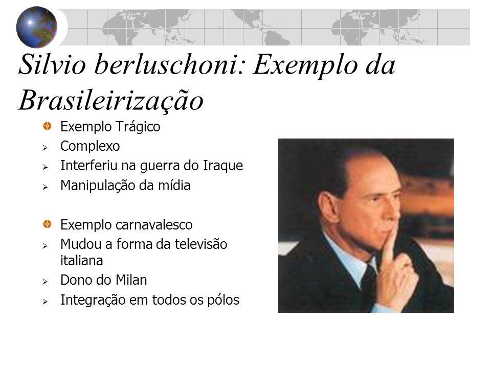 Silvio berluschoni: Exemplo da Brasileirização