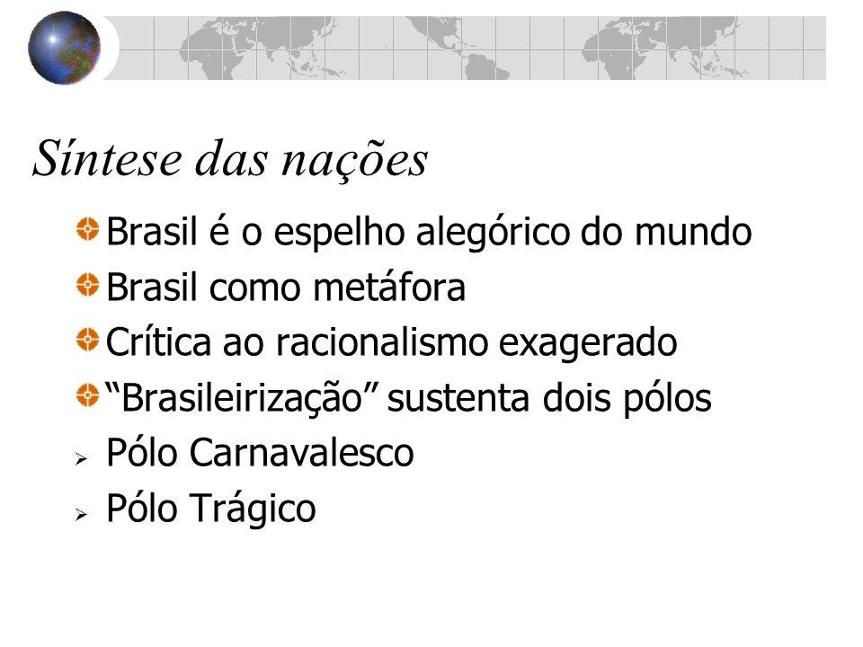 Síntese das nações Brasil é o espelho alegórico do mundo