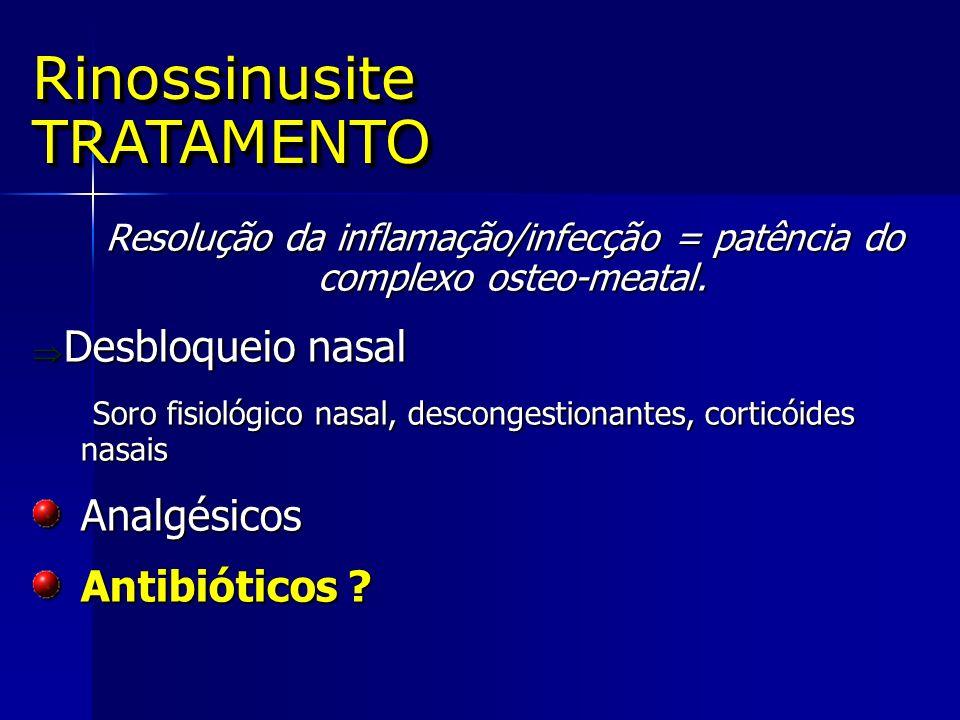 Resolução da inflamação/infecção = patência do complexo osteo-meatal.
