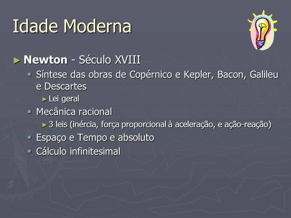 Idade Moderna Newton - Século XVIII