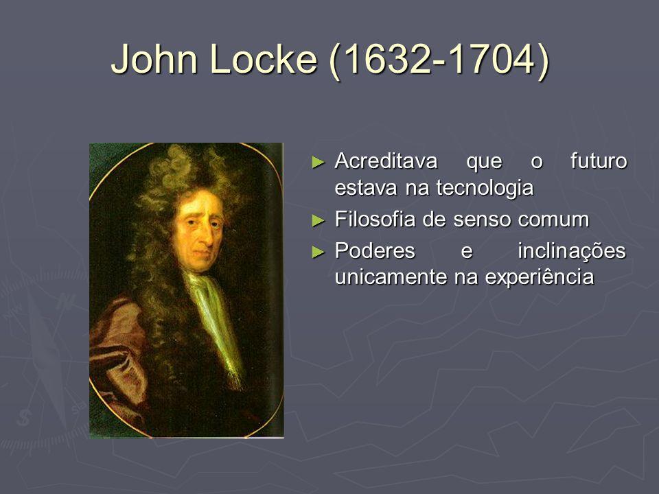 John Locke (1632-1704) Acreditava que o futuro estava na tecnologia
