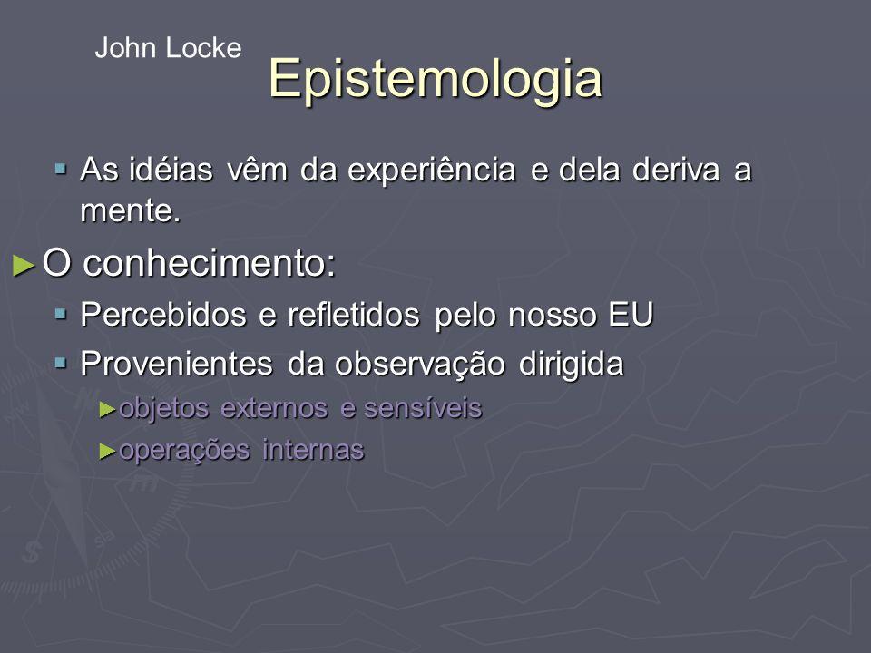 Epistemologia O conhecimento: