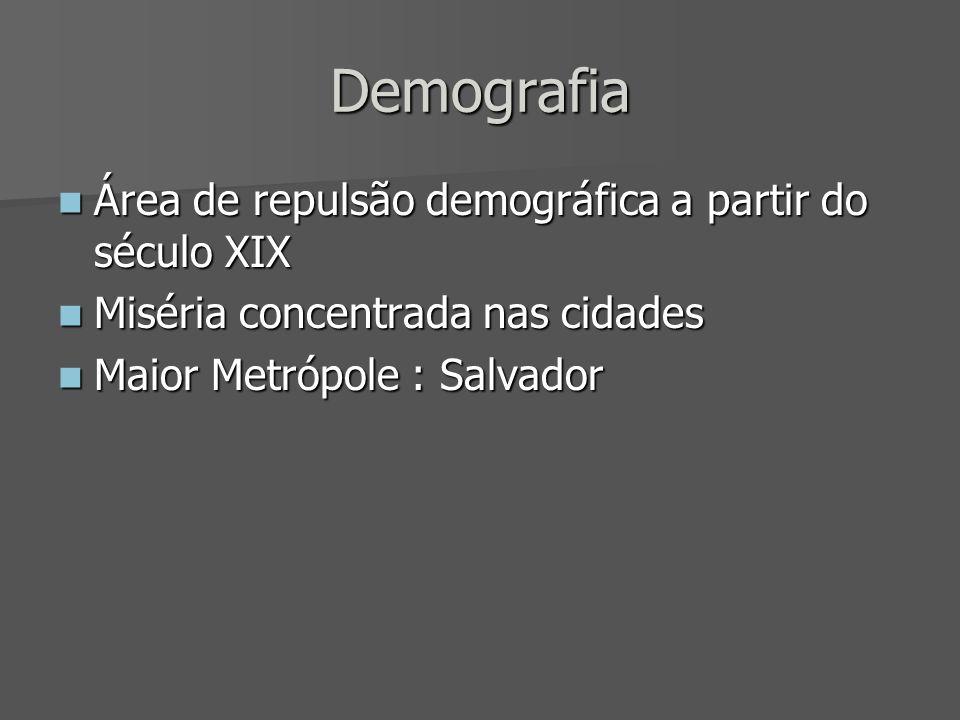 Demografia Área de repulsão demográfica a partir do século XIX