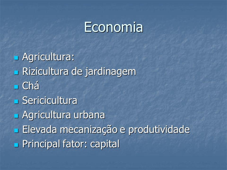 Economia Agricultura: Rizicultura de jardinagem Chá Sericicultura