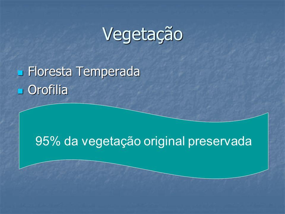 95% da vegetação original preservada