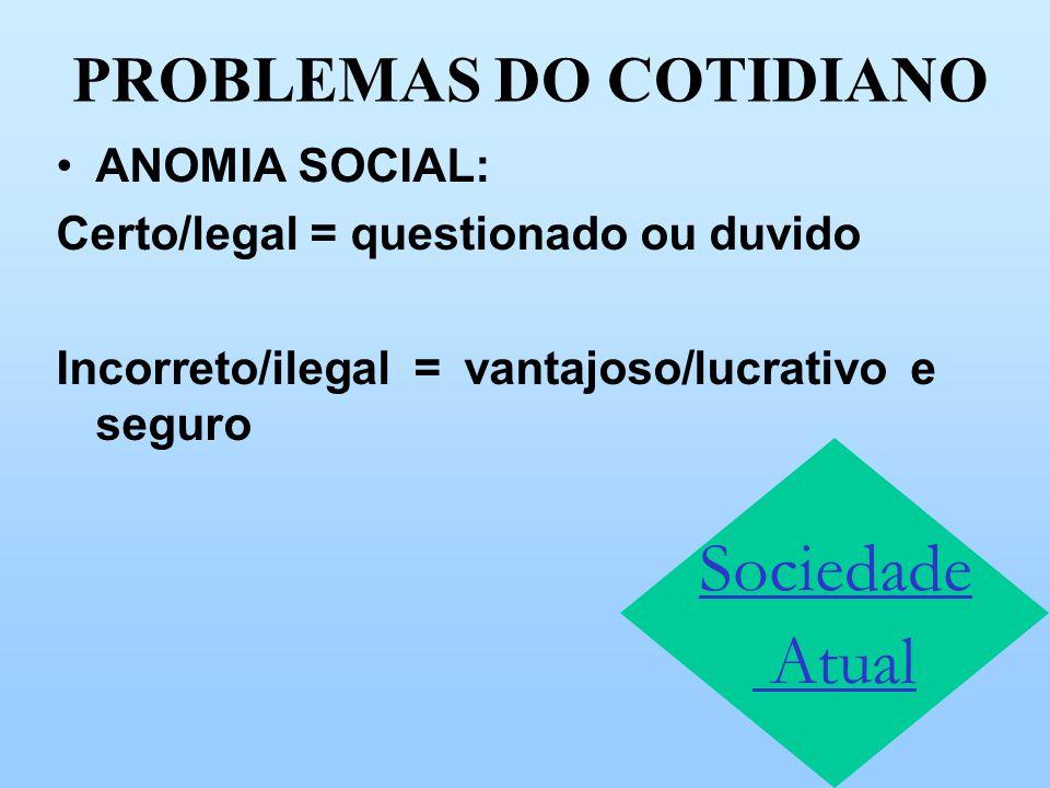 PROBLEMAS DO COTIDIANO