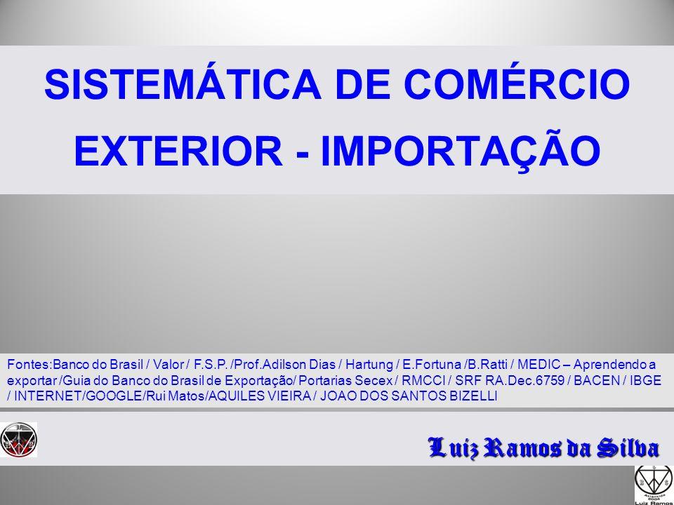 SISTEMÁTICA DE COMÉRCIO EXTERIOR - IMPORTAÇÃO