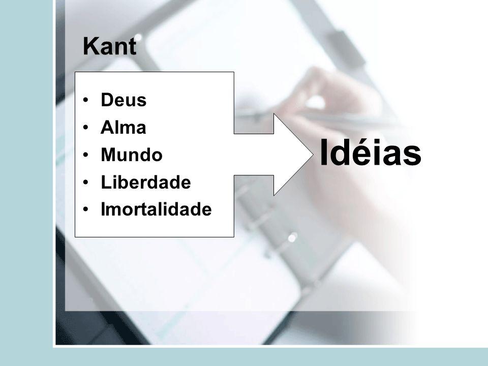 Kant Deus Alma Mundo Liberdade Imortalidade Idéias