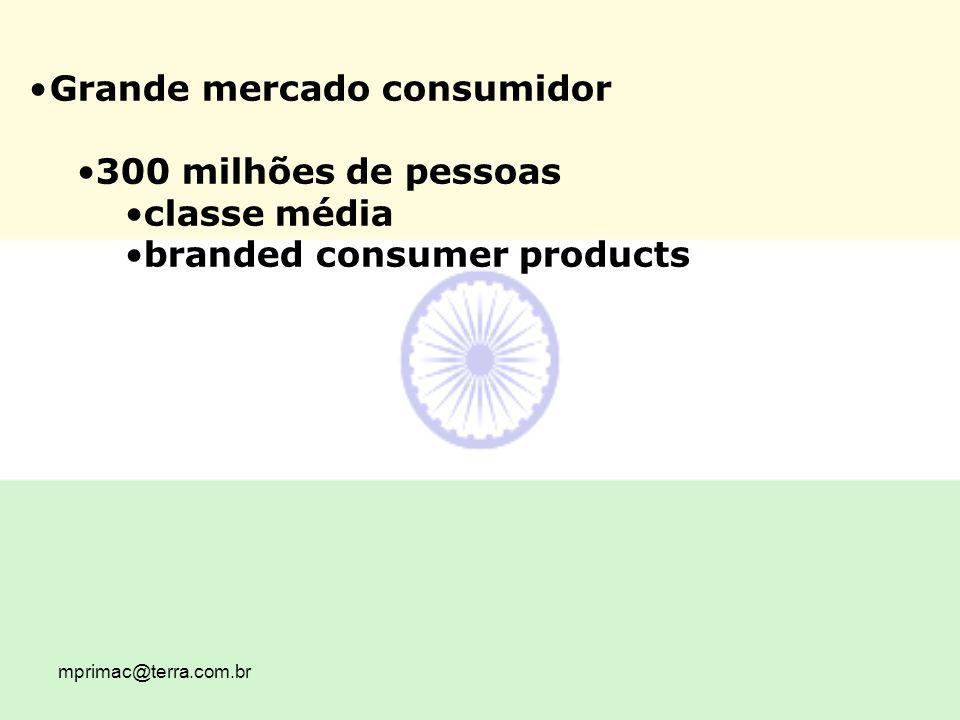 Grande mercado consumidor 300 milhões de pessoas classe média
