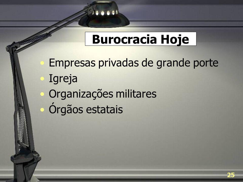 Burocracia Hoje Empresas privadas de grande porte Igreja