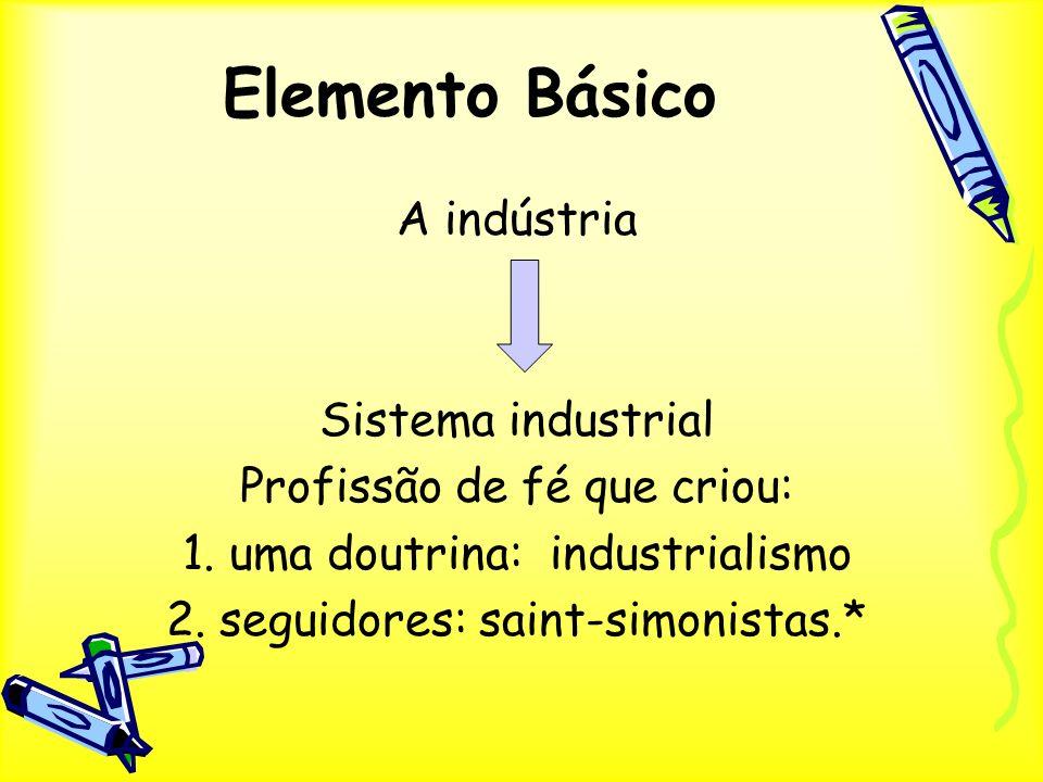Elemento Básico A indústria Sistema industrial
