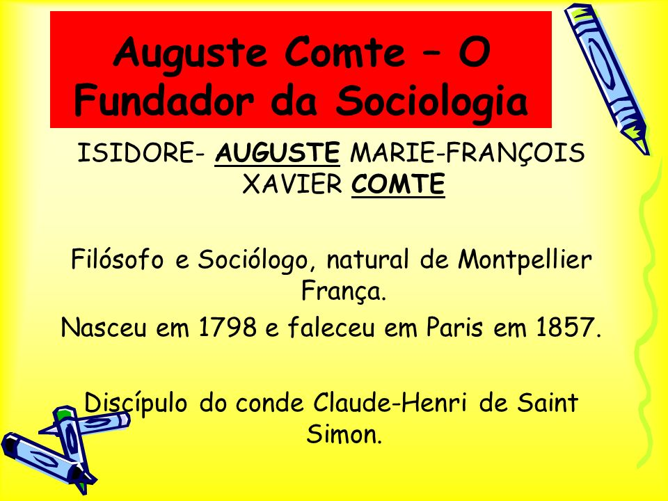 Auguste Comte – O Fundador da Sociologia