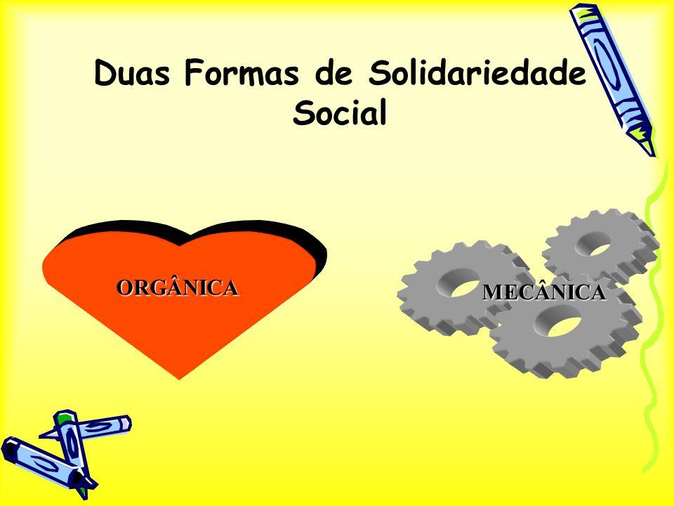 Duas Formas de Solidariedade Social