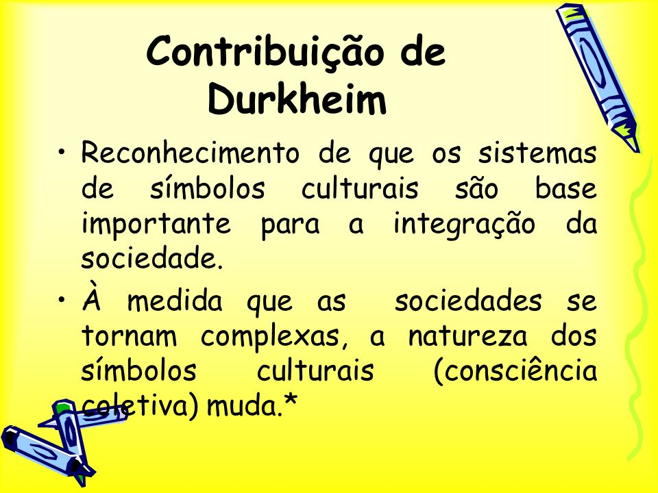Contribuição de Durkheim