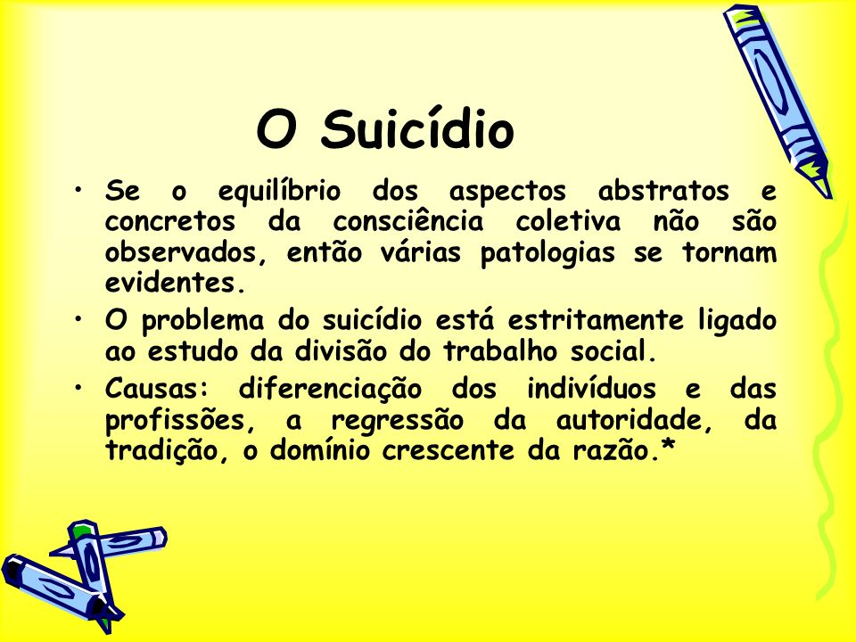 O Suicídio