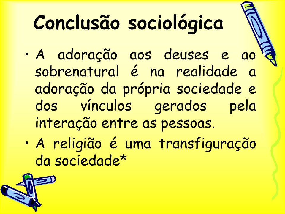Conclusão sociológica