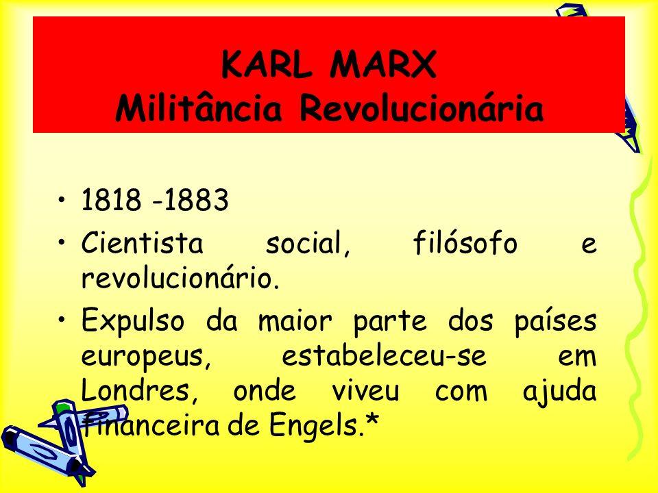 KARL MARX Militância Revolucionária