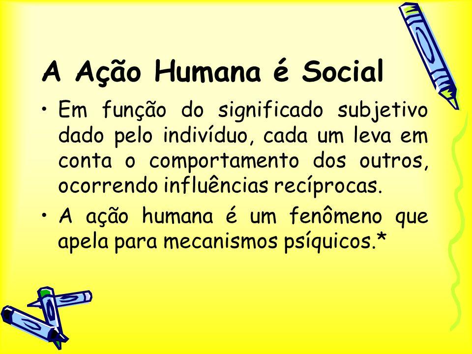 A Ação Humana é Social