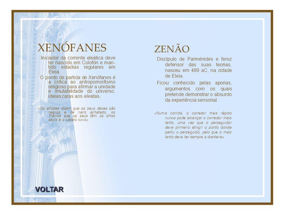 XENÓFANES ZENÃO VOLTAR