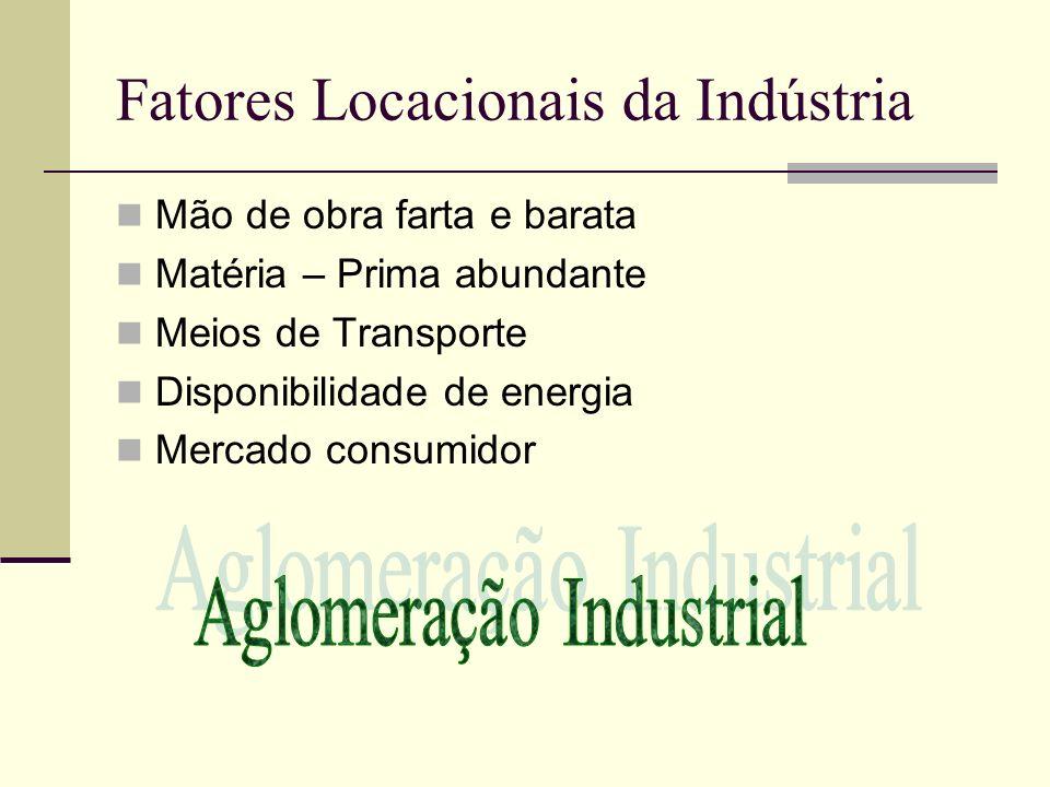 Fatores Locacionais da Indústria